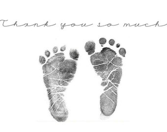 Baby Foot Print Thank You Downloadable Card