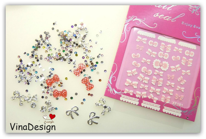 3d nail art diamond bows nail art resin bows nail art decor