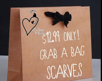 SCARF GRAB BAG, 12.99  dollar scarf, super deal, one scarf at a discounted price women accessories scarves gift ideas stocking stuffers