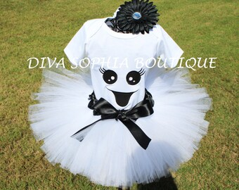 Little Ghost Tutu Set - Birthday Tutu Set - Infant - Toddler up to Size 4T