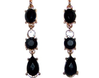 Crystal Embellished Dangle Earrings