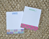 Monogrammed Personalized Preppy Notepad