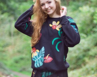 Hand Painted Wild co-ords Jumper
