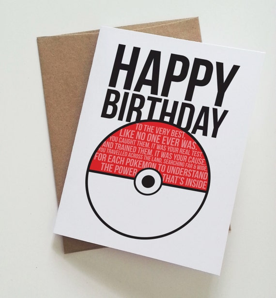 pokemon happy birthday pokeball birthday card fan art, Birthday card