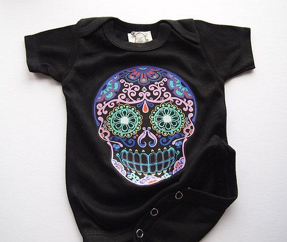 Sugar Skull Kids Clothes Month Black Bonesnelson