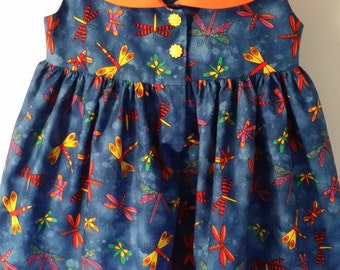 2T dragonfly little girls dress