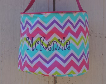 Monogrammed Easter Basket, personalized easter basket,  Chevron Easter Basket, Top Seller, Beach tote, Sand bucket