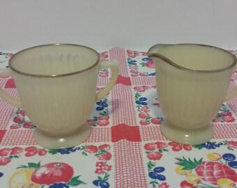 MacBeth-Evans Petal Ware Cream and Sugar