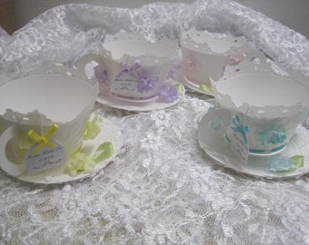 Pastel Teacup and Saucer Cupcake Wrappers