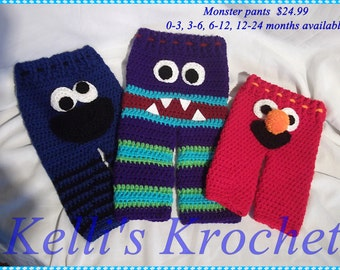 Crocheted Monster Pants