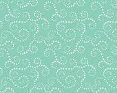 """Aqua Star Swirls from """"Oh Boy"""" by Lori Whitlock for Riley Blake Designs"""