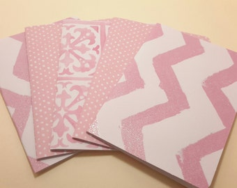 Pretty in Pink/ blank note card set