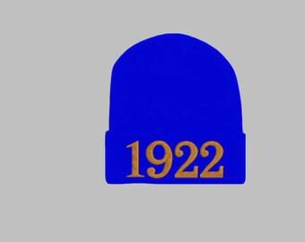 SIGMA GAMMA RHO, 1922 Greek Letter/Founding Year Monogrammed Acrylic Knit Beanie