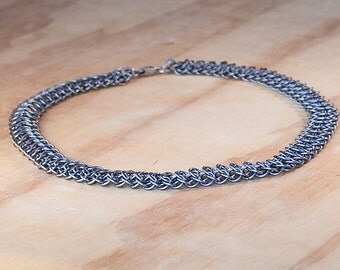 Titanium Necklace. Chainmaille Necklace, Chainmail Necklace, Chain Mail Necklace, Nickle-Free Necklace, Lightweight, Medieval