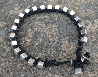 Bracelet Colo 21 Sterling Silver .925 Leather Handmade (B121SS-L)