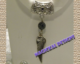 Winter Angel - Scarf Jewelry  string this pendant on your favorite scarf for a versatile fashion accessory