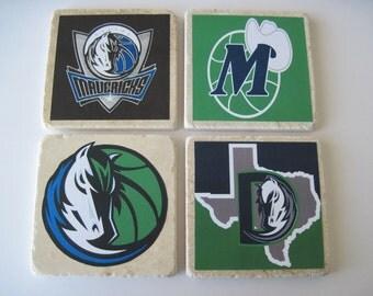 Dallas Maverick Coasters - Set Of 4