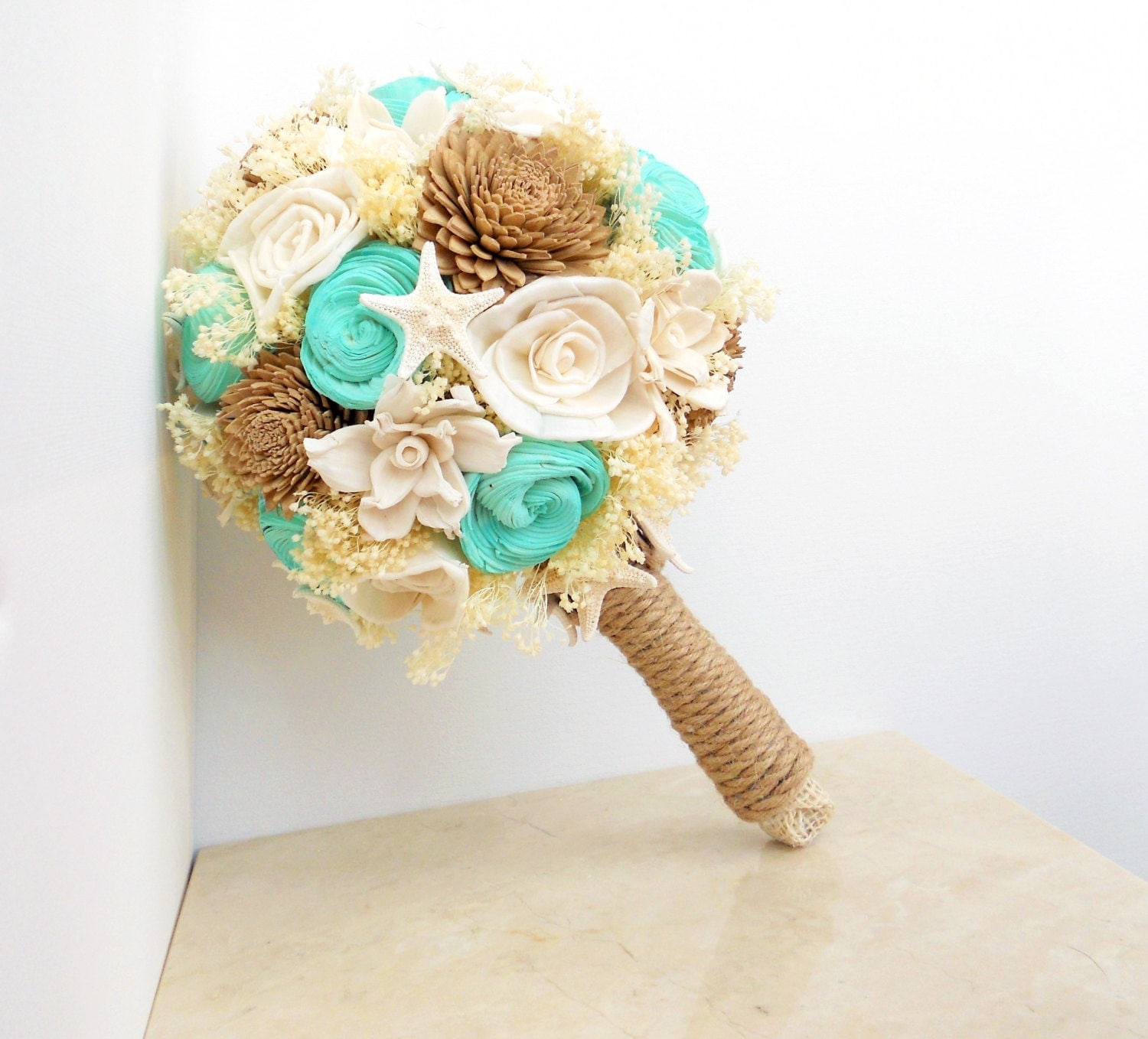 Beach Wedding Flower Ideas: Beach Wedding Bouquet Starfish Bouquet Beach Wedding By