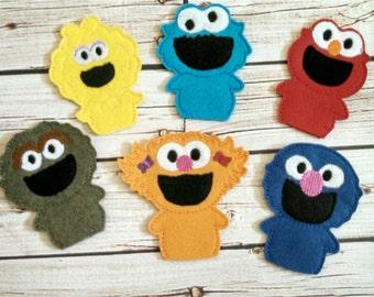 Sesame finger puppets