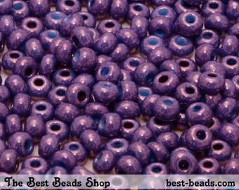 25g (330pcs) Purple Haze Rocaille 6/0 (4.1mm) Preciosa Czech Glass Seed Beads