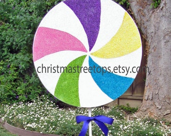 Candyland Candy Theme Party Decor Candy land Party Decoration 10 Inch Lollipop Sweet 16 Birthday Party Candy Decorations