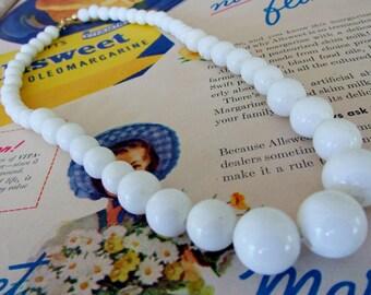 Vintage White Wedding Necklace