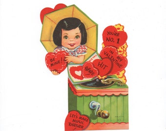 """Vintage """"classroom"""" valentine from the '50's"""