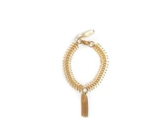 IVY - 18k gold plated chains tassel bracelet, gold jewelry, tassel bracelet, delicate bracelet, delicate jewelry, boho chic bracelet