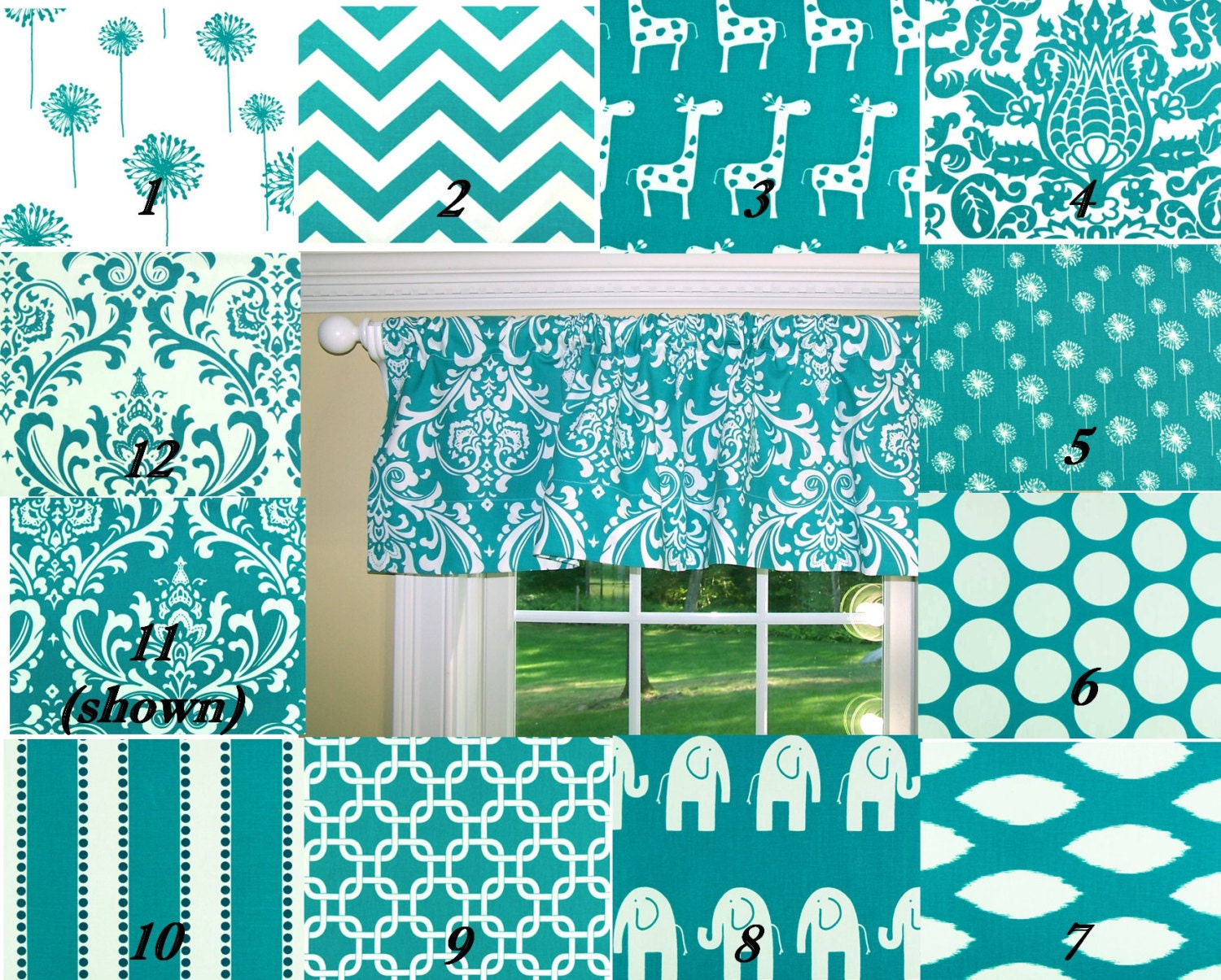 Turquoise Curtains Turquoise Valance By Cathyscustompillows