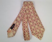 Vintage 40s Silk Swing Tie Made by Regal With Original Price Sticker