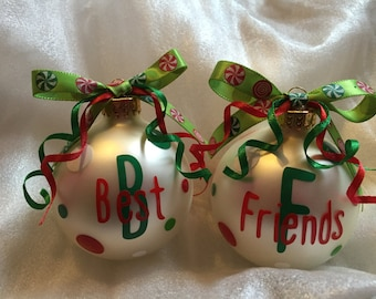 Set of Best Friends Ornaments