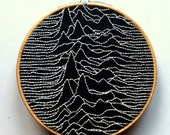 Embroidery Hoop Art  - hanging art - music hoop art - embroidered music