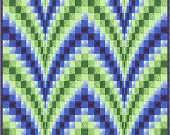 Ocean Waves Bargello Twin Size Quilt Pattern