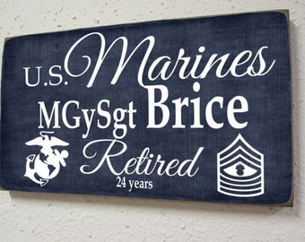 Usmc Wooden Cut Out Cake Topper