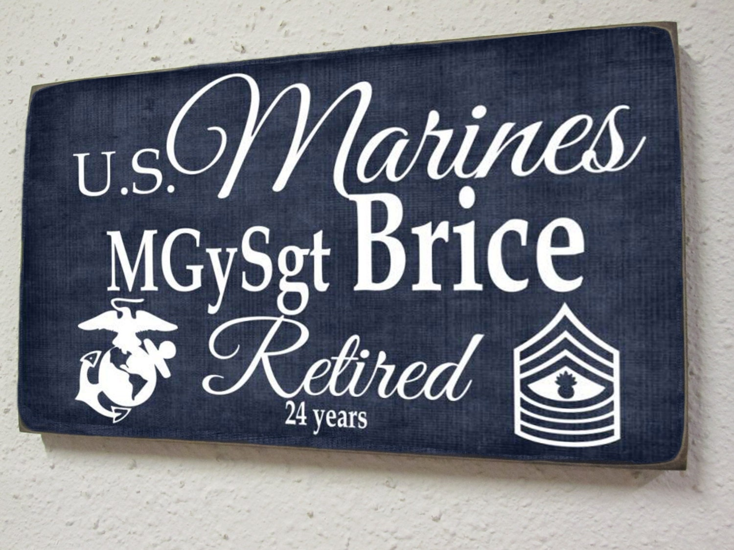 Marines Retirement Sign Marine Corp Military Retirement