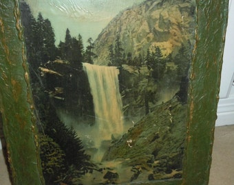 Waterfall Primitive Print and Frame