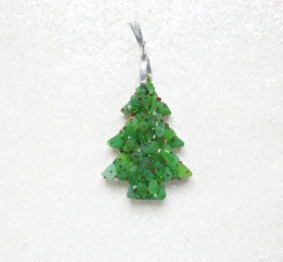 Sea Glass Christmas Tree Mosaic Handcrafted By Seamosaics