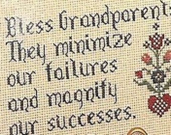 Harriette Tew Dear Grandparents Counted Cross Stitch Pattern Samplers Charted Designs OOP
