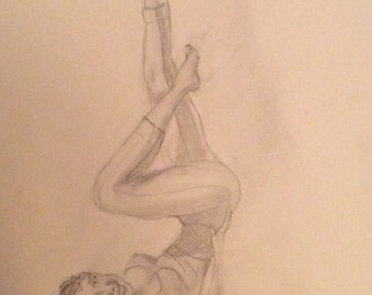 "Pin-up girl, ""yogariffic"""