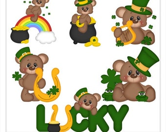 Brownie Feels Lucky Clip Art - Download Only