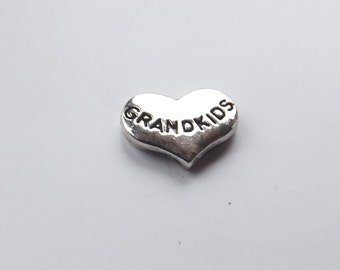Grandkids Charm Grandkids heart charm locket charm floating locket charm