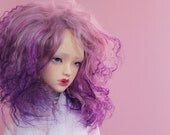 BJD mohair wig - Magical Purple - 8/9""