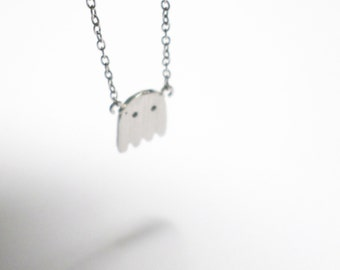 watchout there's ghost necklace
