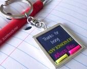 Gift for Teacher Teacher Gift End of Year Present for Teacher Made in Australia Teacher Keyring Personalised Keychain