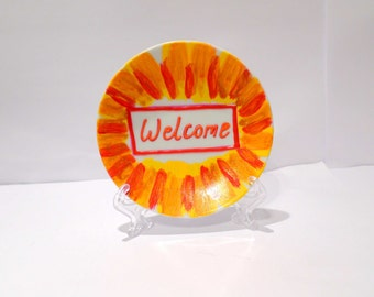 Hand Painted Sign - Welcome!
