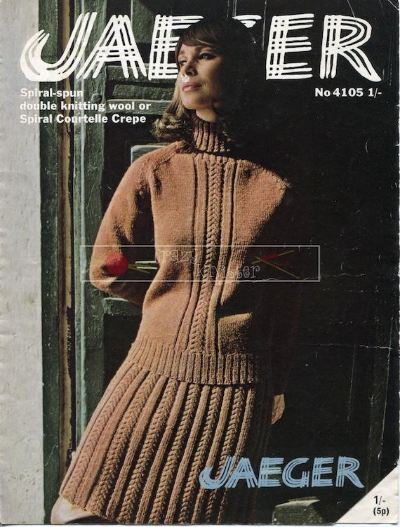 Lady's Jumper Suit 34-38in Jaeger 4105 Vintage Knitting Pattern PDF instant download