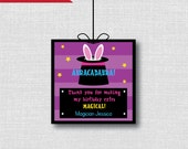 Custom Girl Magic Favor Tags - Magic Themed Birthday Party - Digital Design or Handcrafted Tags - FREE SHIPPING