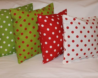 Christmas pillow Covers polka dot