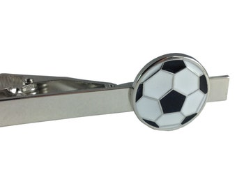 White And Black Soccer Ball Tie Clip Tie Bar