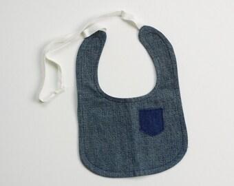Denim Bib with Pocket